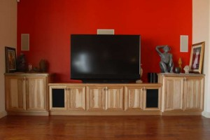 Lara Custom Cabinets - Residential Entertainment Center